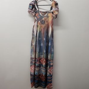 Anthropologie Lapis Long Dress One Size